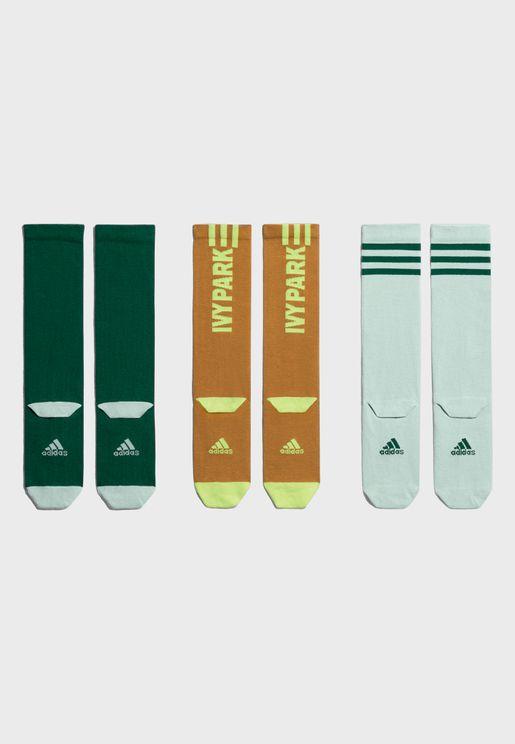 3-Pack Logo Socks