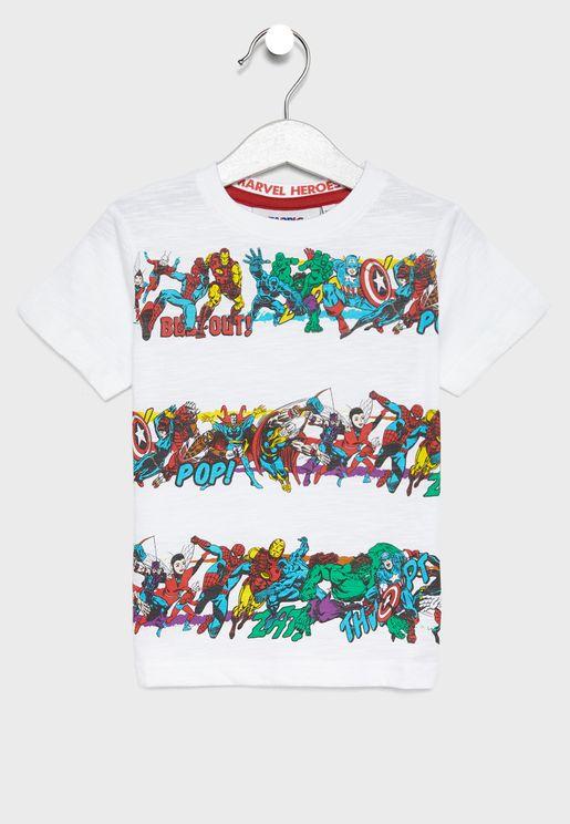 Little Marvel Hero's T-Shirt