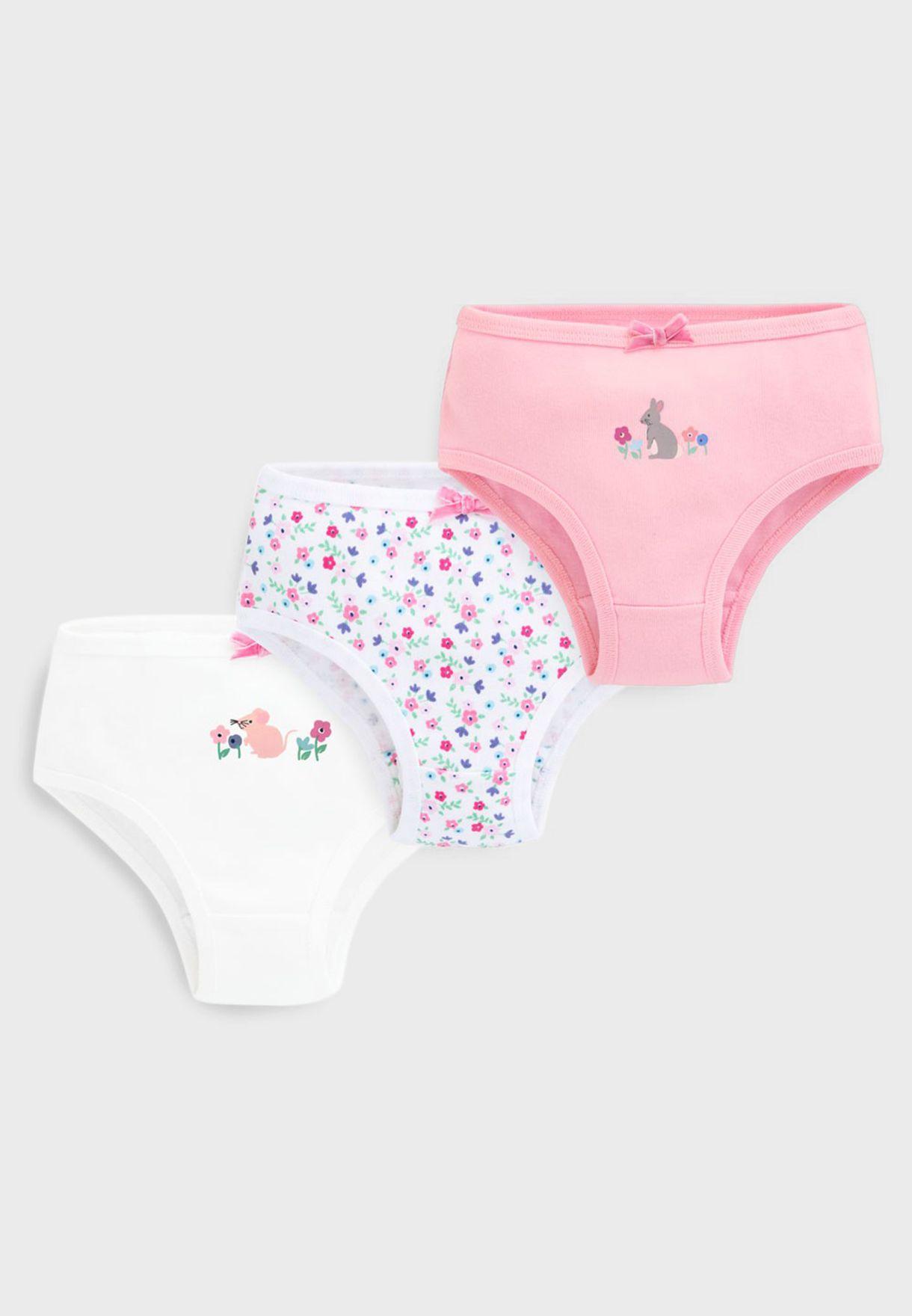 Kids 3 Pack Printed Underwear