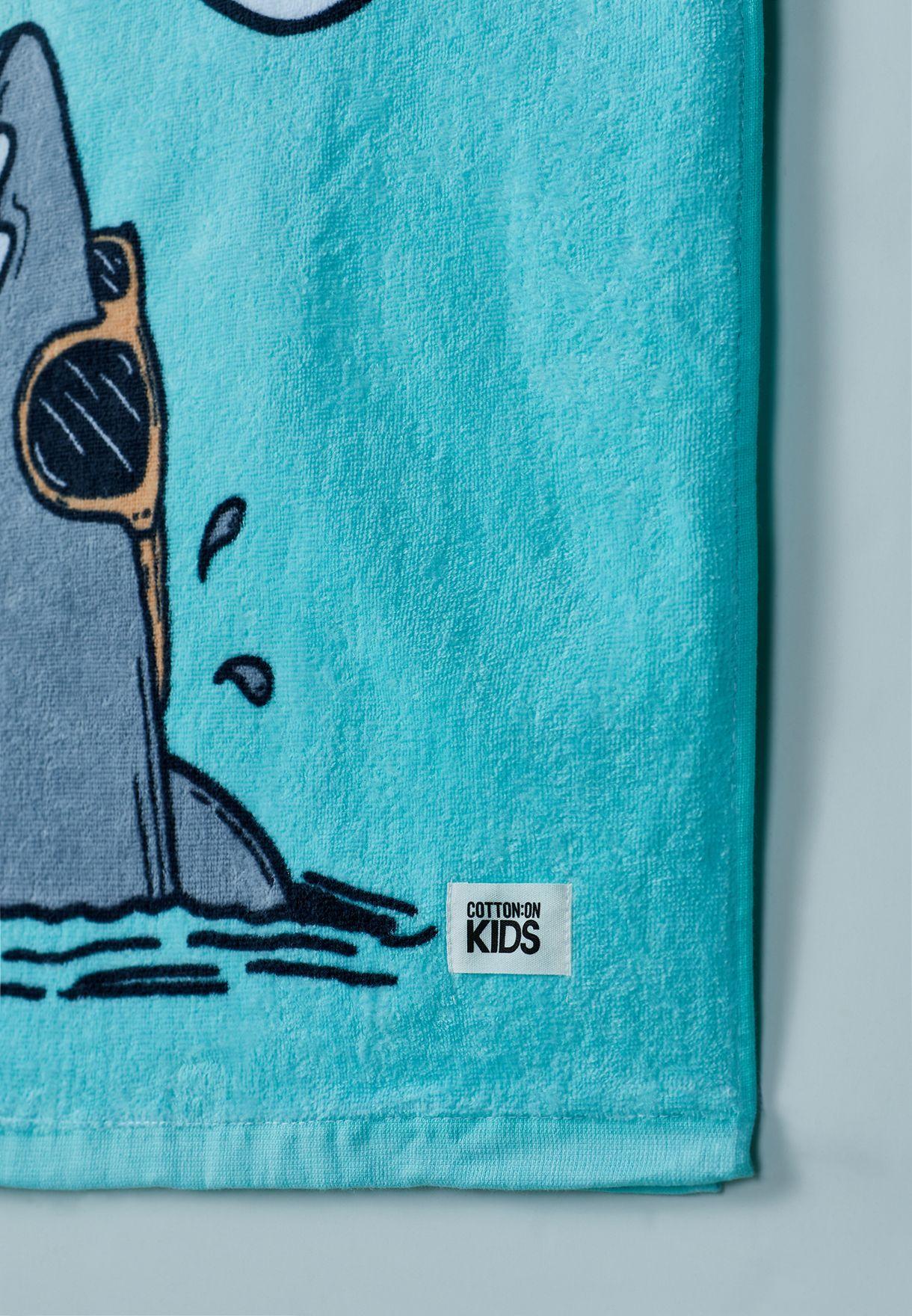 منشفة للاطفال بياقة هودي