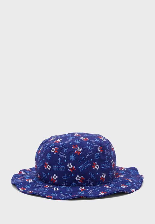قبعة بطبعات ميني ماوس