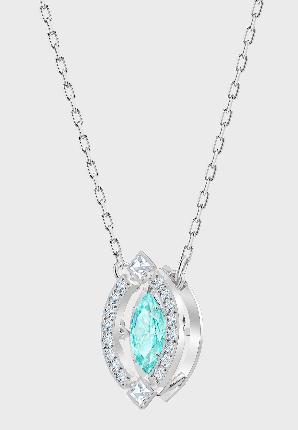 Sparkling Marq Pendant Necklace