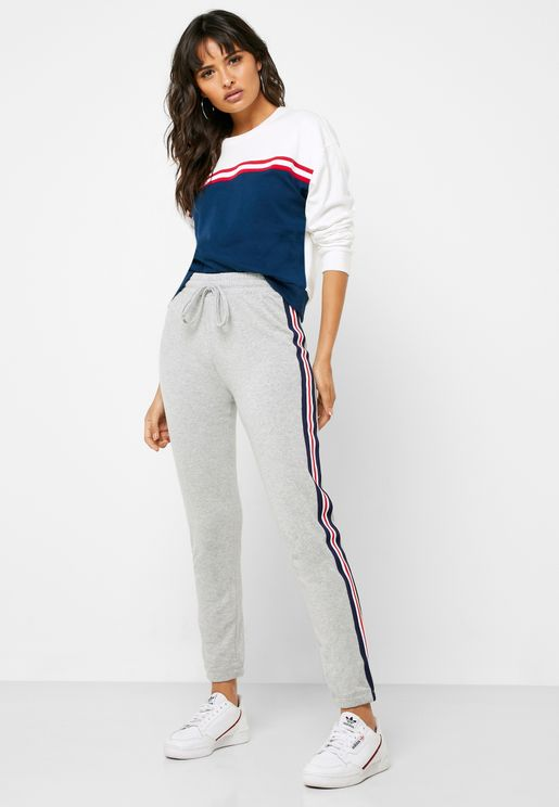 Side Striped Sweatpants