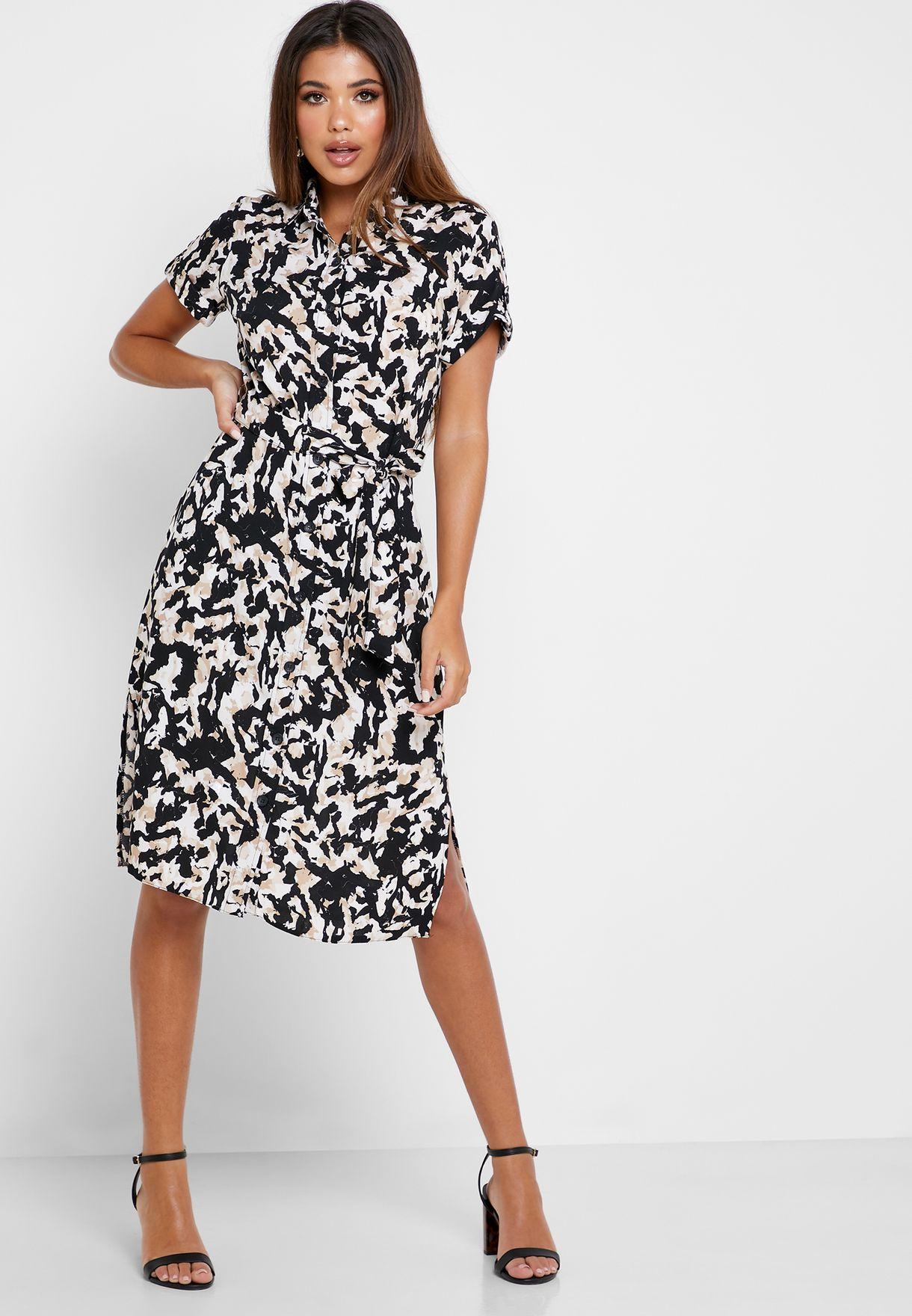 Camo Print Shirt Dress