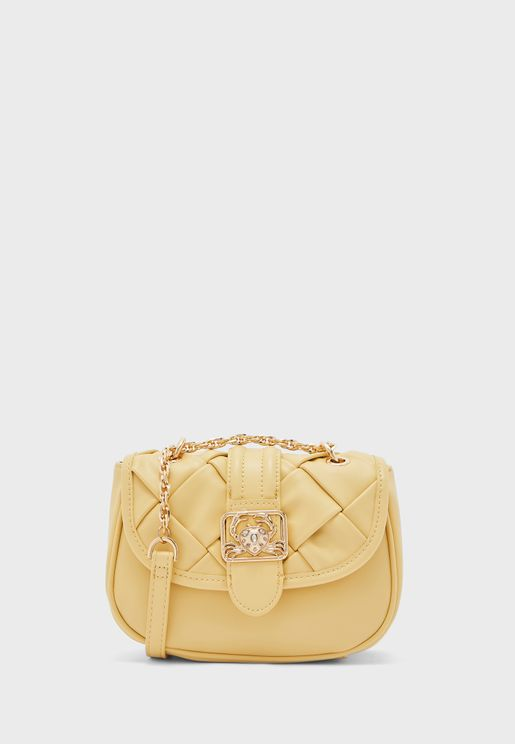 Sebastian Chain Detail Flap Over Crossbody