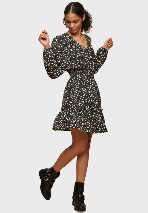 Ditsy Print Skater Dress