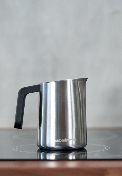 ابريق لصنع رغوة الحليب للقهوة 450 مل / 15 أونصة