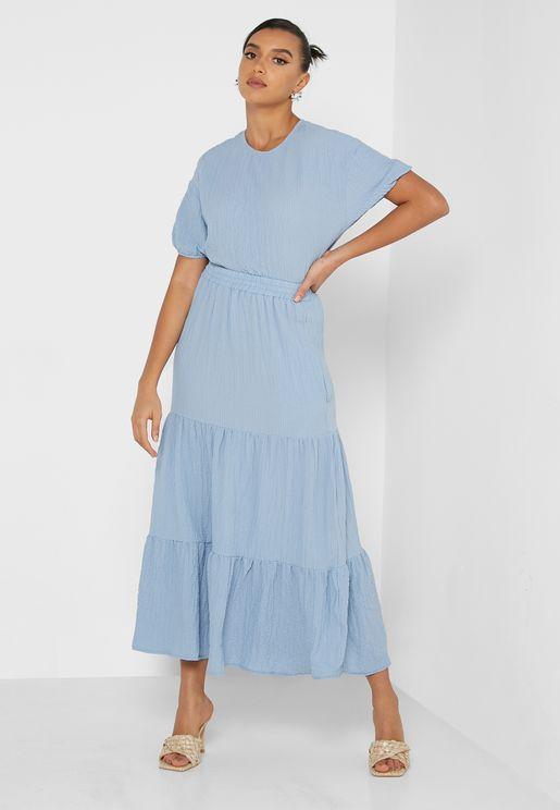 Skirt Set With Gathering Detail