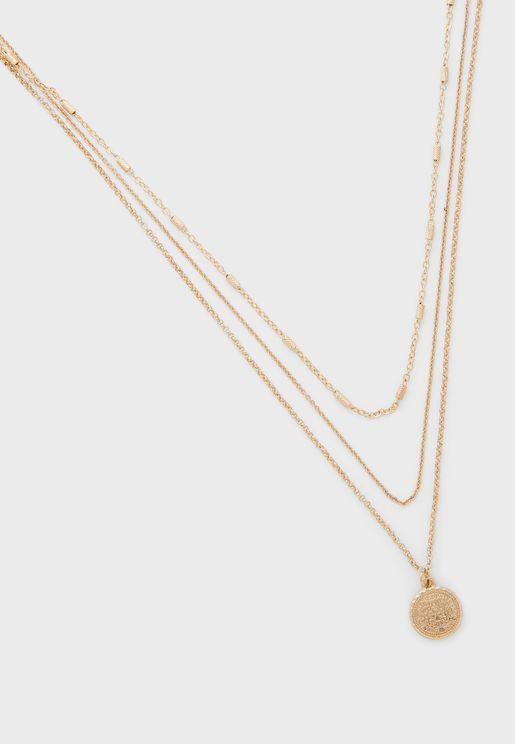 Embellished Set Of 3 Necklace