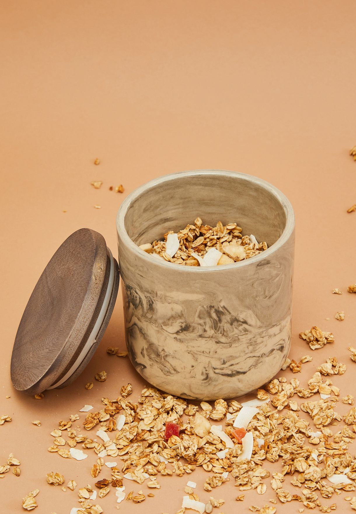 Marbled Ceramic Canister Small