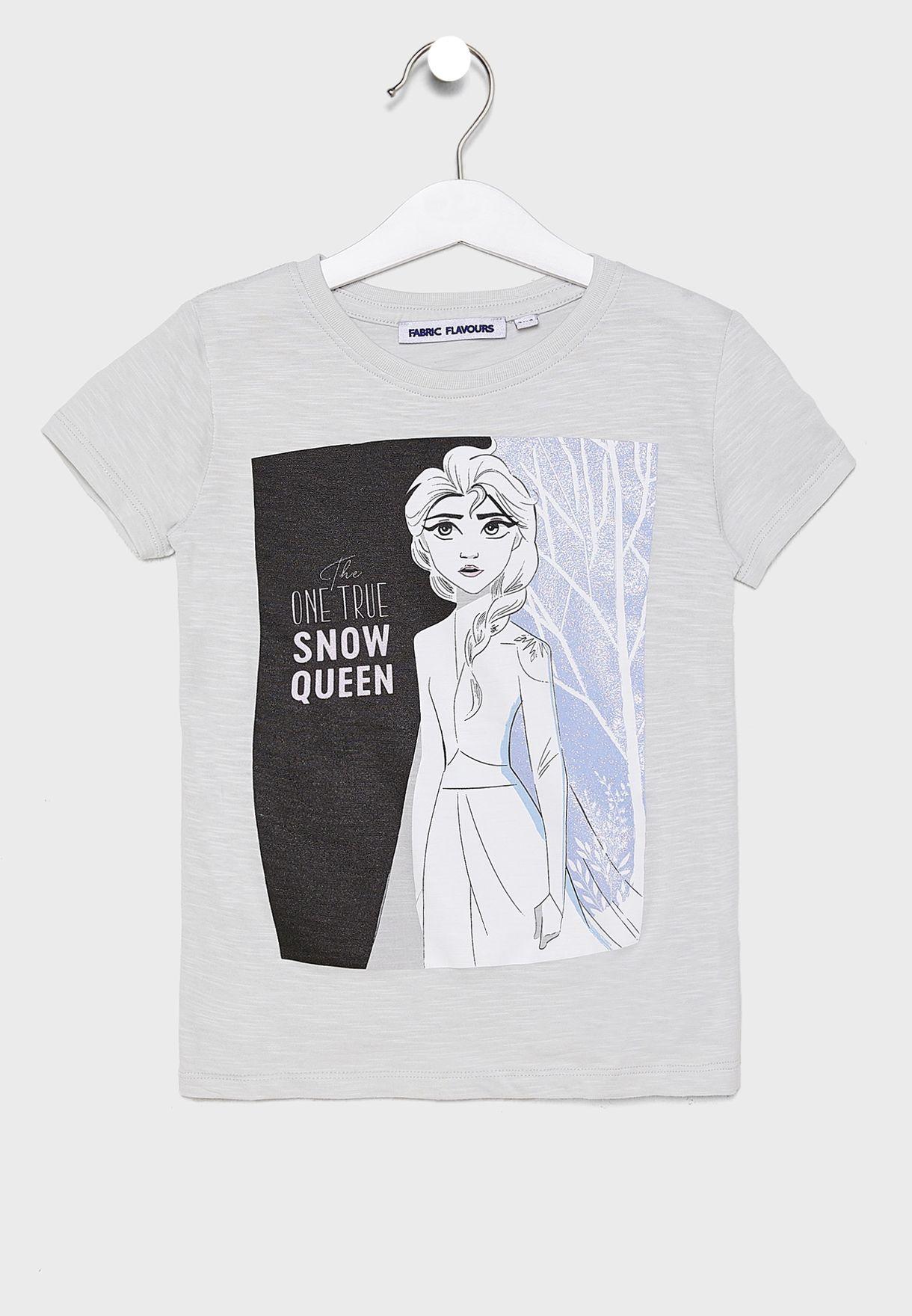 تيشيرت بطبعة ملكة الثلج