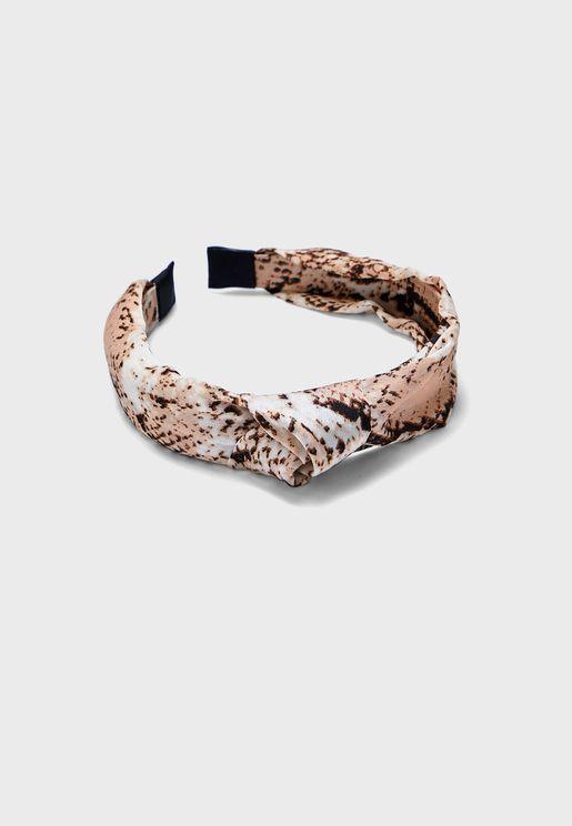 Snake Print Knot Alice Headband