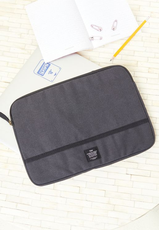 "13"" Washed Black Canvas Laptop Case"
