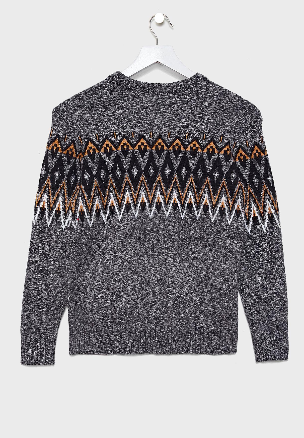 Kids  Juquard Crew Sweater