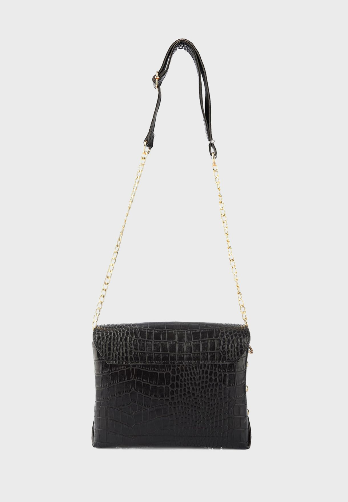 Textured Front Button Crossbody