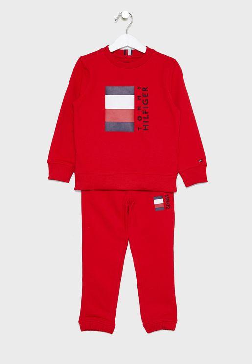 Kids Global Stripe Pullover Sets