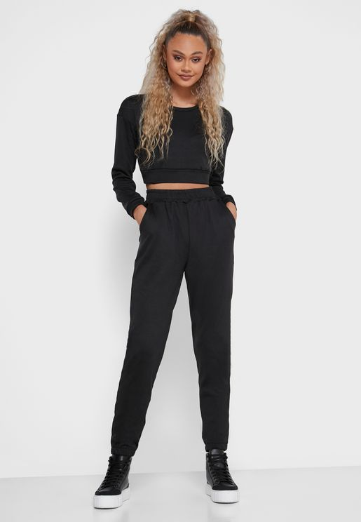 Cropped Top & Joggers Set