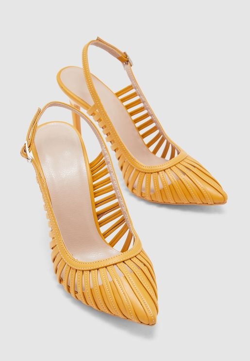 Ankle Strap Pump - Yellow