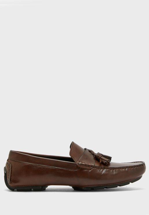 Genuine Leather Tassel Loafers