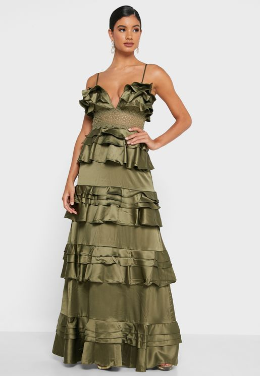 Layered Plunge Dress