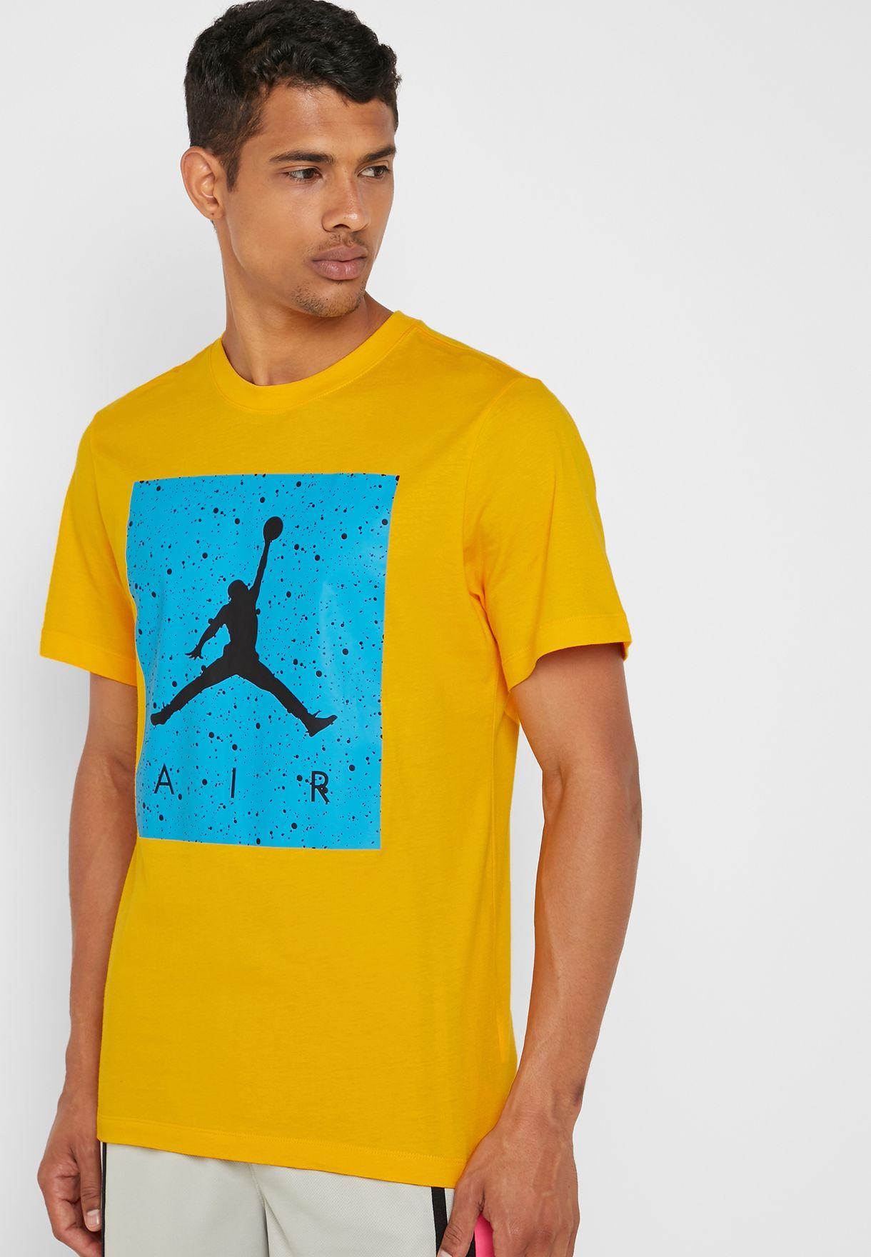7a91c1502bce54 Shop Nike yellow Jordan Poolside T-Shirt CD0542-739 for Men in UAE ...