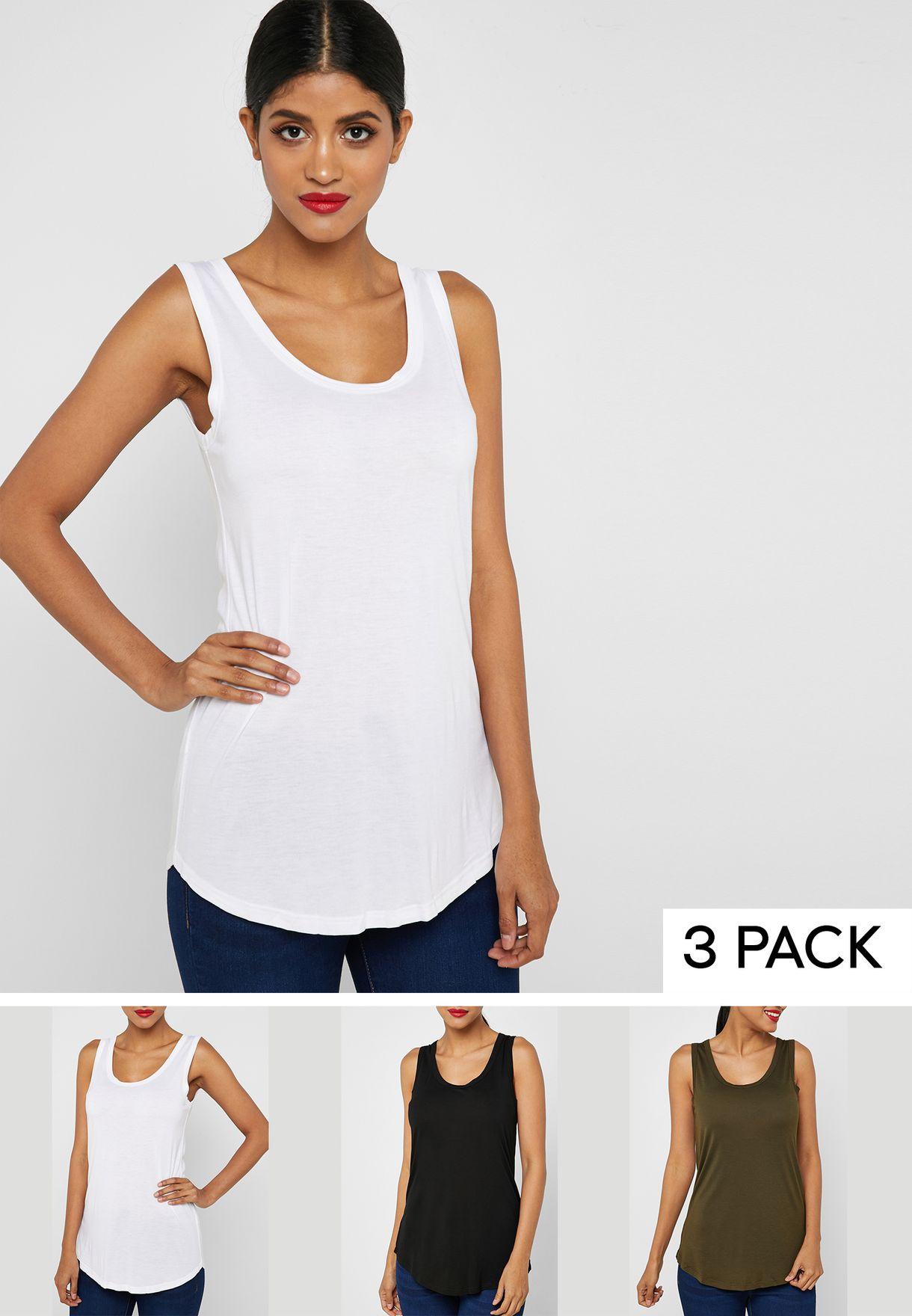3 Pack Longline Vest