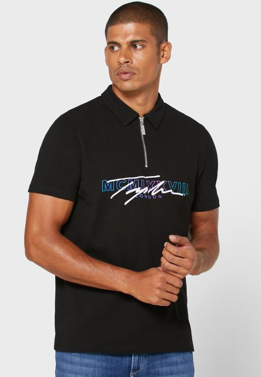 Signature Half Zip Polo