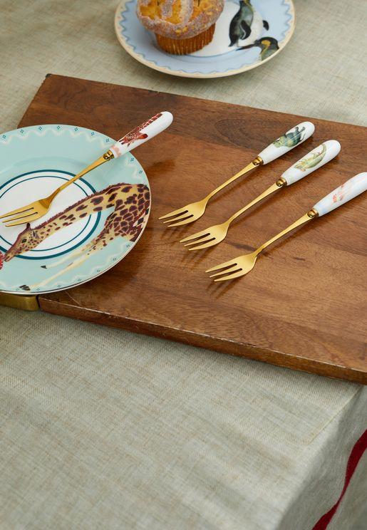 4 Pcs Cake Forks Set