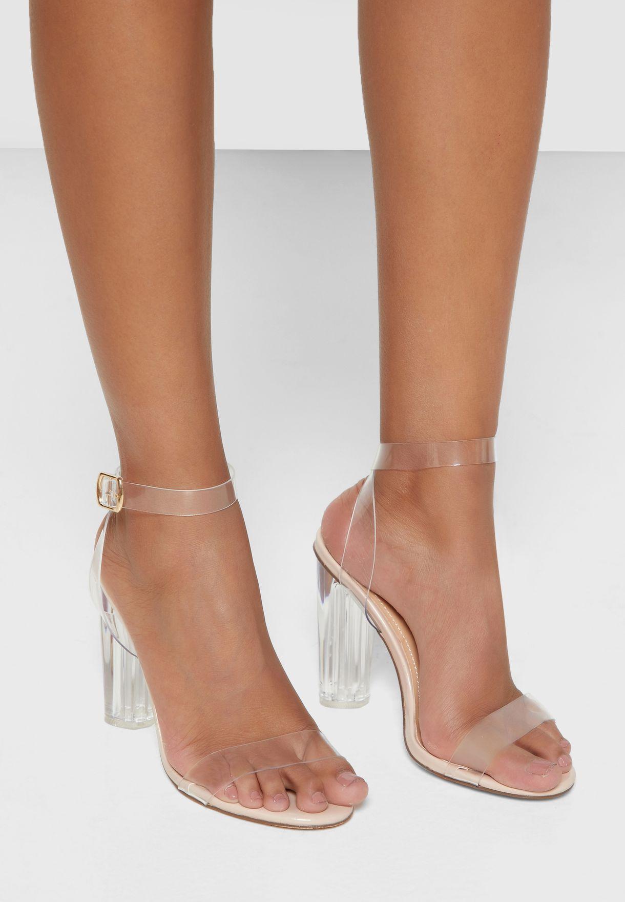 Clear Strap Persplex Heel Sandal