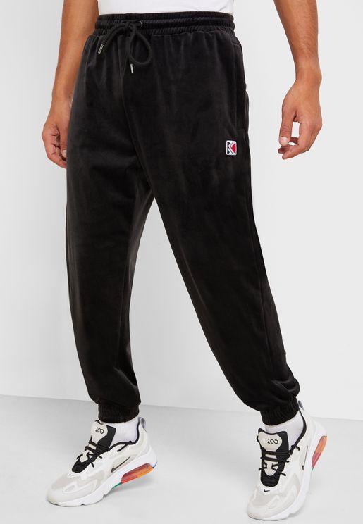 Retro Velvet Sweatpants