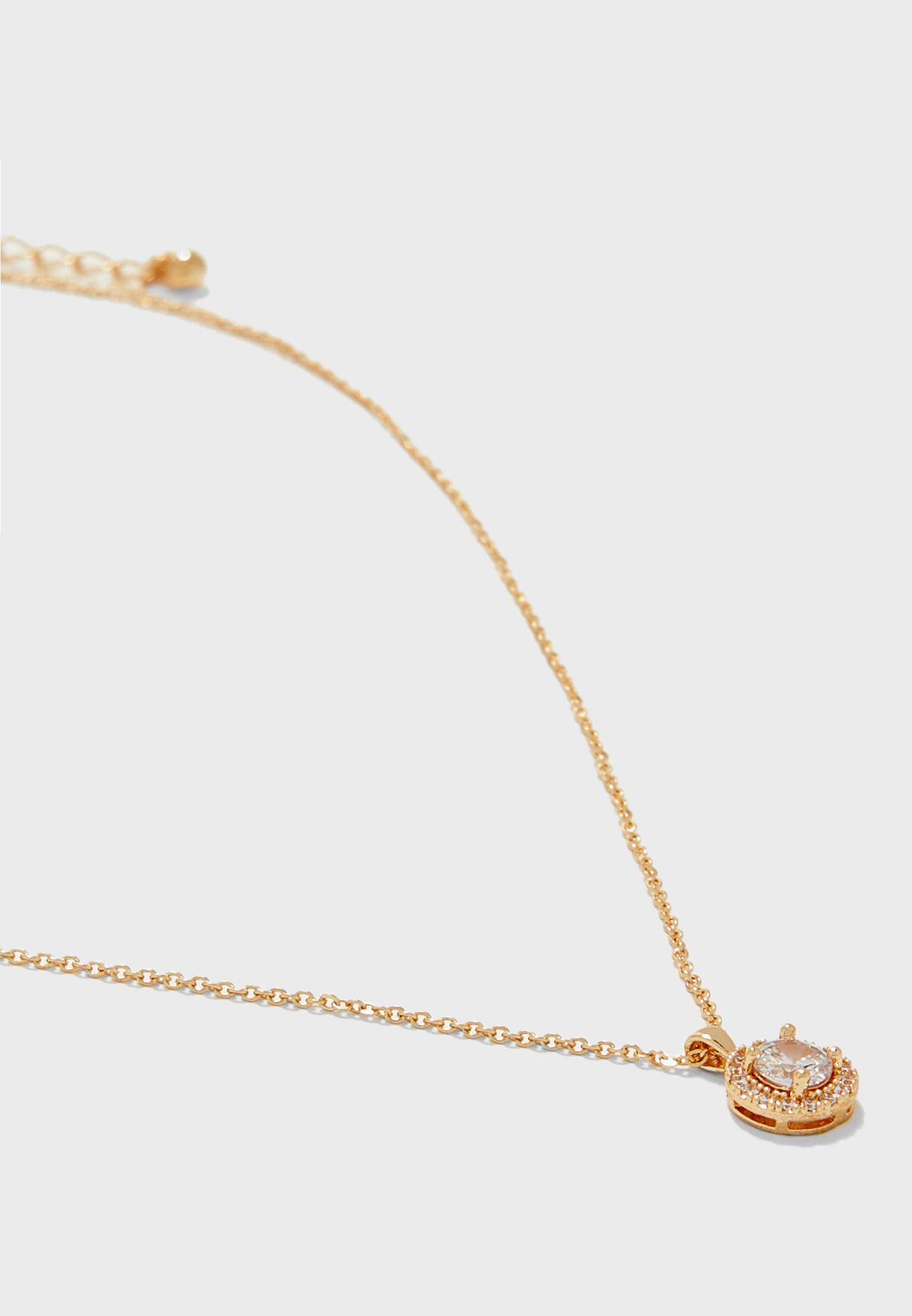 Circular Stone Pendent Necklace