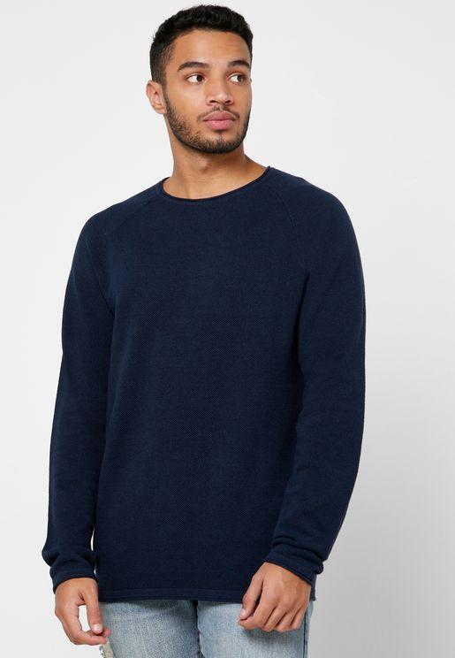 Hill Knitted Crew Neck Sweatshirt