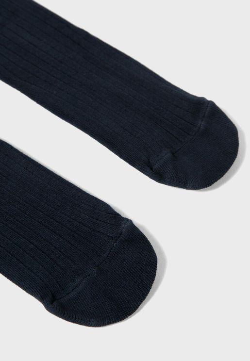 Kids Ribbed Stockings