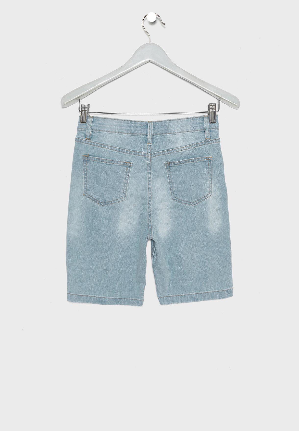 Kids Ripped Shorts