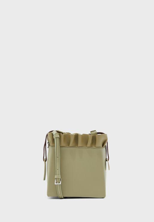 Ruffle Detail Mini Bag