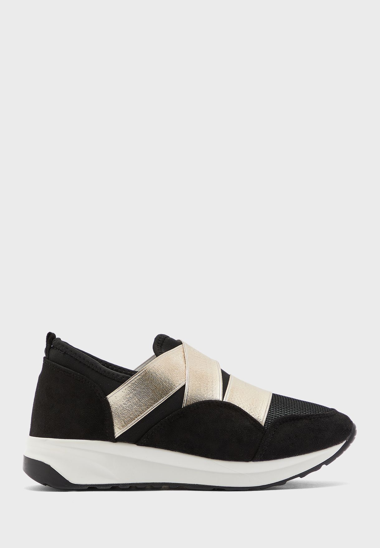 Chunky Sneaker With Metallic Strap