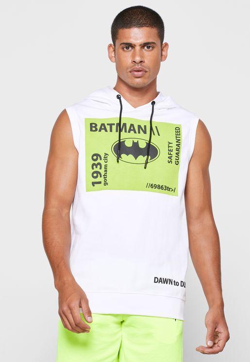 Batman Logo Hooded T-Shirt