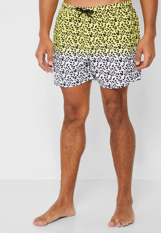 Leopard Print Swim Short