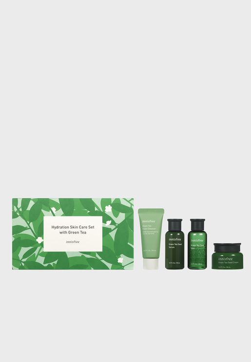 Hydration Skin Care Set with Green Tea