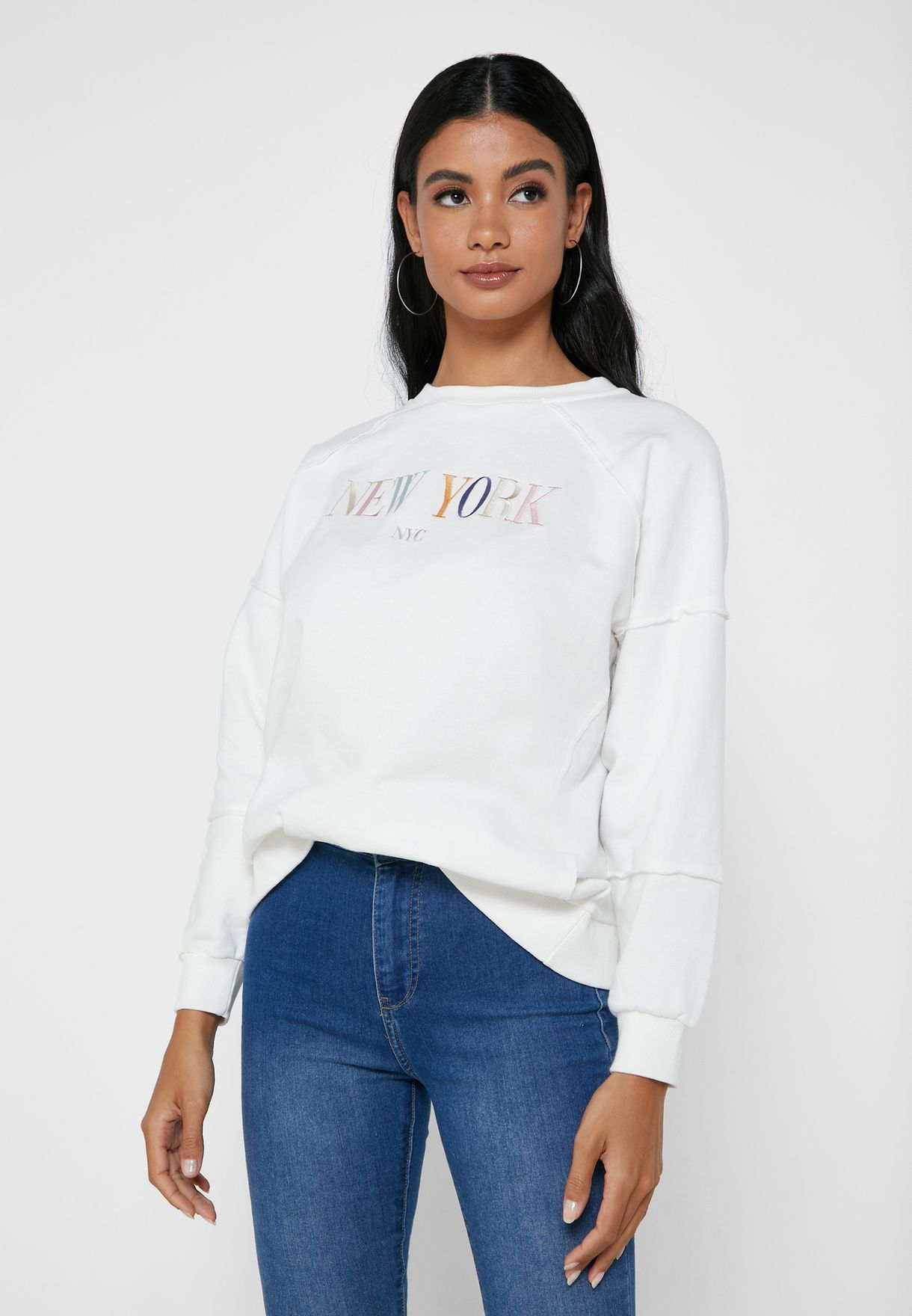 New York Embroidered Sweater