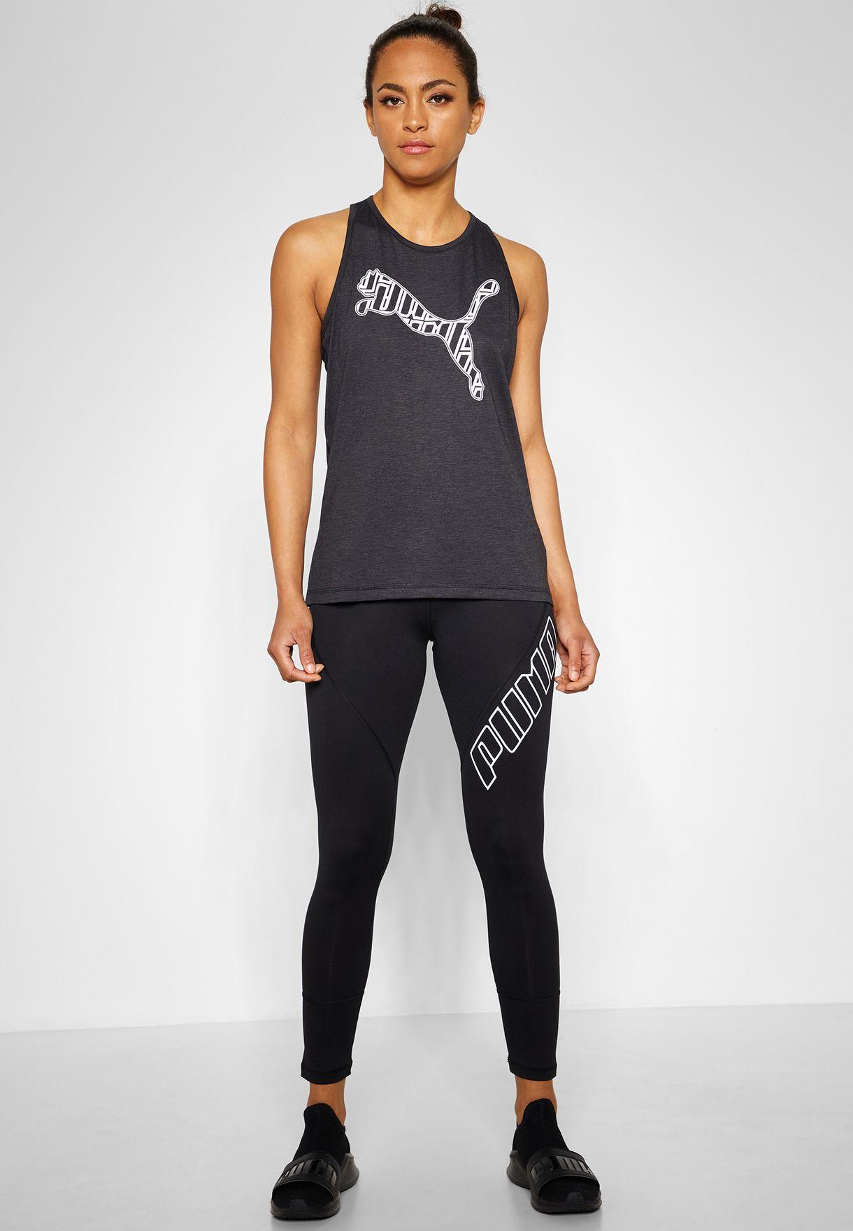 c9e100e7be98 Shop PUMA black Yogini Logo 7 8 Leggings 51743104 for Women in UAE ...