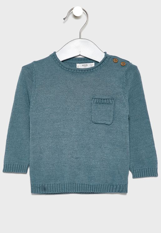 Infant Button Shoulder Sweater