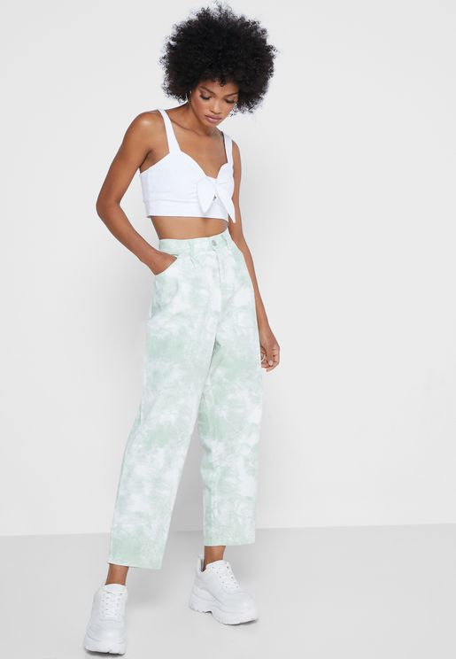 Printed Mom Jeans