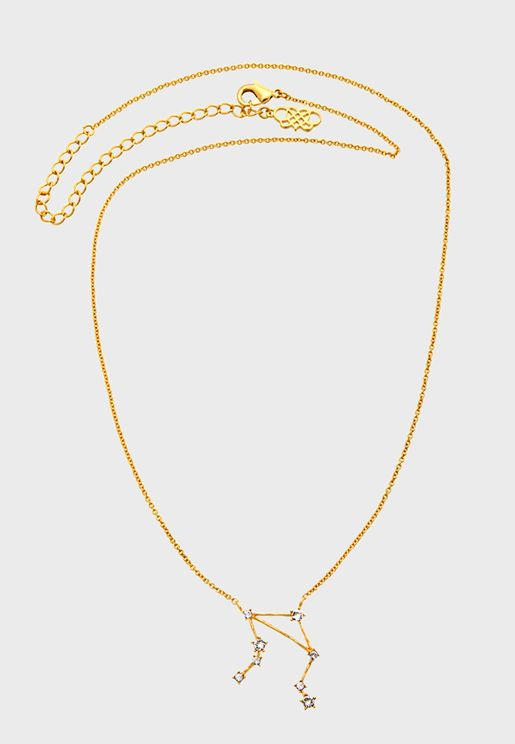 Libra star sign - Crystal Necklace