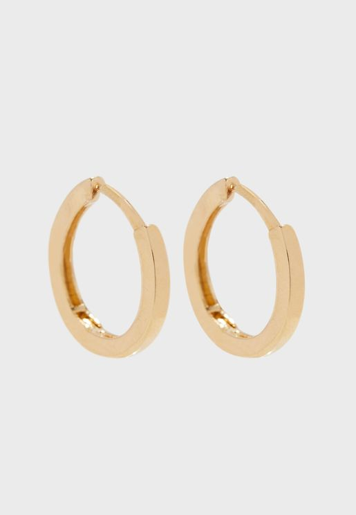 Clean Metal Huggie Hoop Earrings