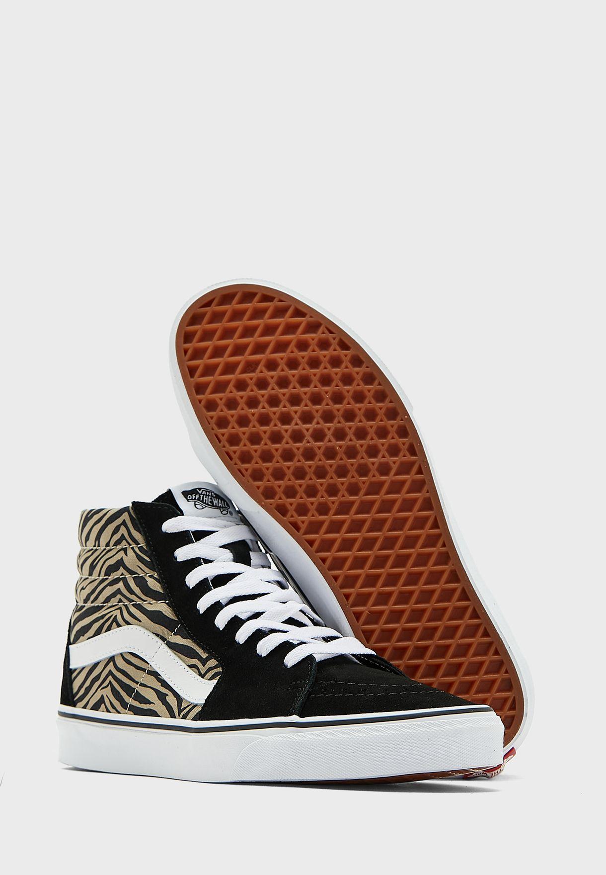 حذاء مطبع بكاحل مرتفغ