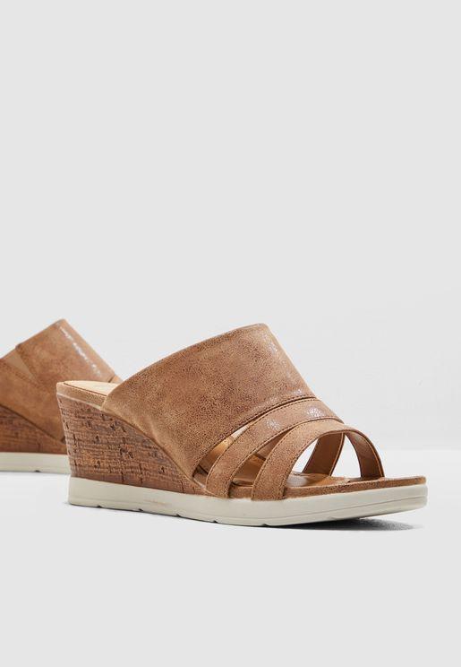 Mule Wedge Sandal
