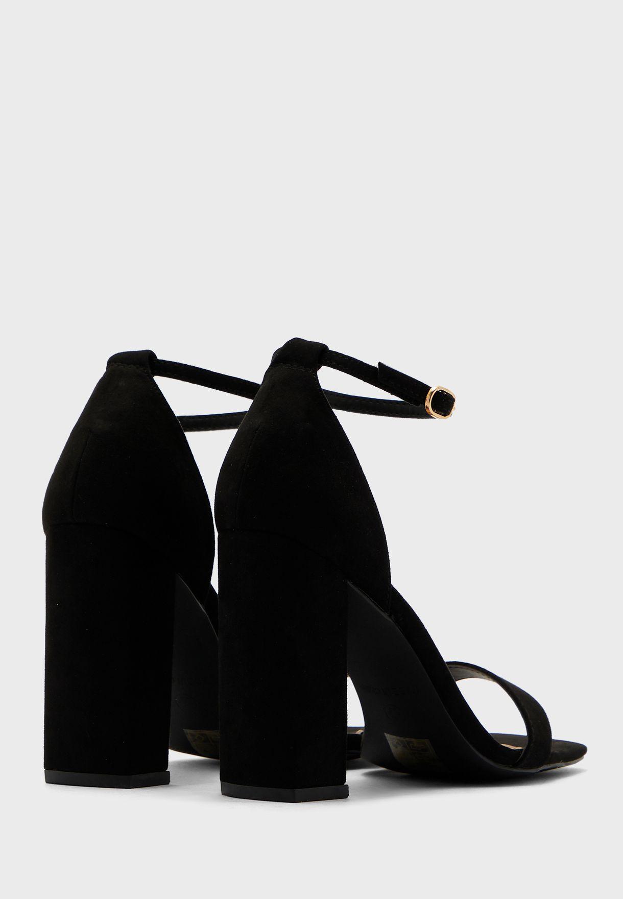 Block Heel Square Toe Sandals