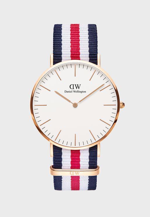 Classic Canterbury RG White 40mm Watch