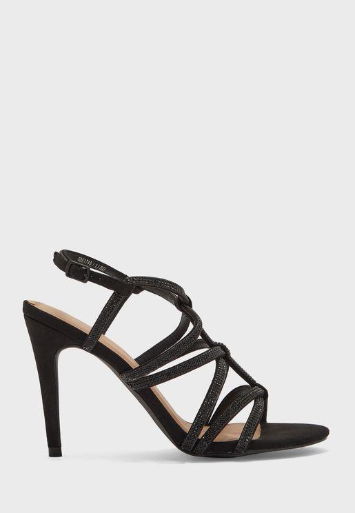 Diamante Strappy High Heel Sandals